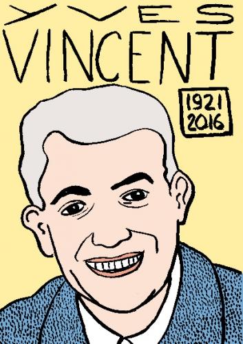 mort d'yves vincent, dessin, portrait, laurent jacquy,répertoire des macchabées célèbres,mort d'homme,