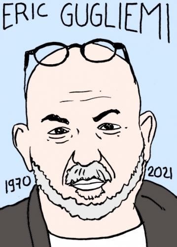 mort de Eric Gugliemi,dessin,portrait,laurent Jacquy