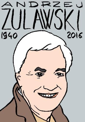 mort d'andrejz zulawski, dessin, portrait, laurent jacquy,répertoire des macchabées célèbres,mort d'homme,