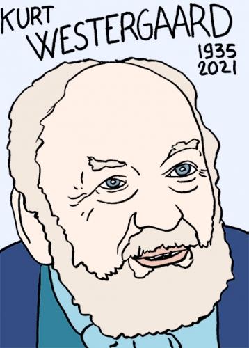 mort de Kurt Westergaarddessin,portrait,laurent Jacquy