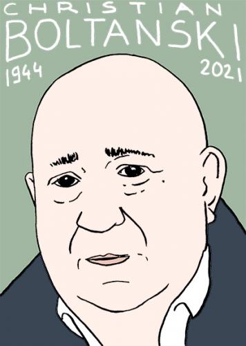 mort de Christian Boltanski,dessin,portrait,laurent Jacquy