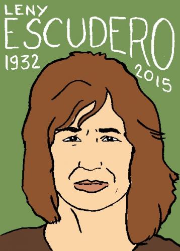 mort de leny escudero, dessin, portrait, laurent jacquy,répertoire des macchabées célèbres,mort d'homme,