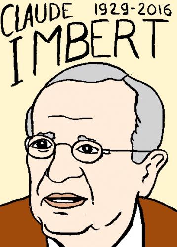 mort de claude Imbert, dessin, portrait, laurent jacquy,répertoire des macchabées célèbres,mort d'homme,