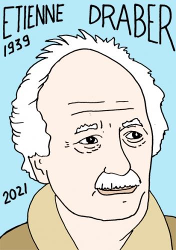 mort d'Etienne Draber,dessin,portrait,laurent Jacquy