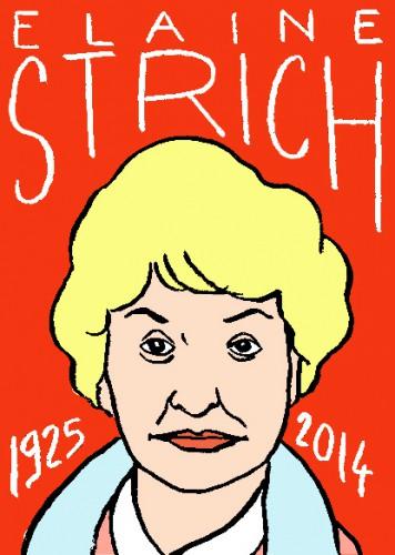 mort d'elaine strich,dessin,portrait,laurent jacquy,répertoire des macchabées célèbres