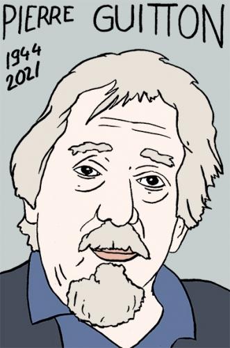mort de Pierre Guitton,dessin,portrait,laurent Jacquy