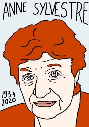 Mort d'anne sylvestre, dessin, portrait,laurent jacquy