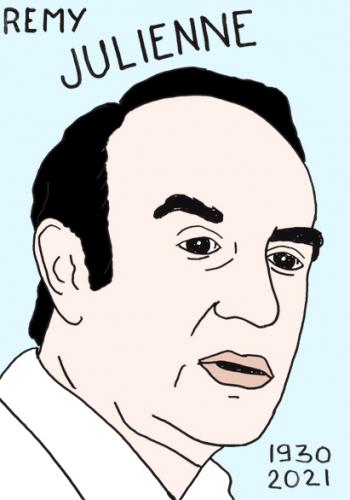 mort de Rémy Julienne,dessin,portrait,laurent Jacquy