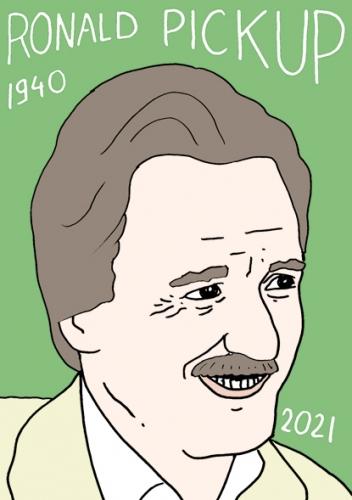 mort de Ronald Pickup,dessin,portrait,laurent Jacquy