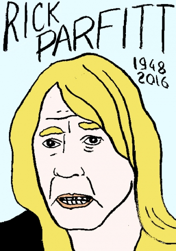 mort de Rick Parfitt, dessin, portrait, laurent jacquy,répertoire des macchabées célèbres,mort d'homme,