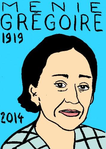 mort de Menie grégoire,dessin,portrait,laurent jacquy,répertoire des macchabées célèbres