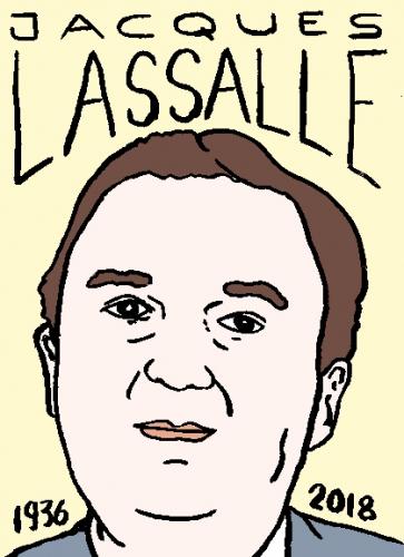 mort de Jacques lassalle, dessin, portrait, laurent jacquy,répertoire des macchabées célèbres,mort d'homme,