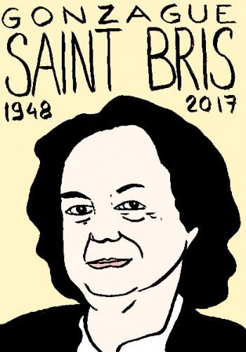 mort de Gonzague Saint Bris, dessin, portrait, laurent jacquy,répertoire des macchabées célèbres,mort d'homme,