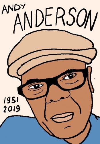 mort d'andy anderson, dessin, portrait, laurent jacquy,répertoire des macchabées célèbres,mort d'homme,