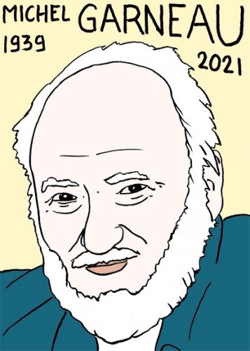 mort de Michel Garneau,dessin,portrait,laurent Jacquy,poésie