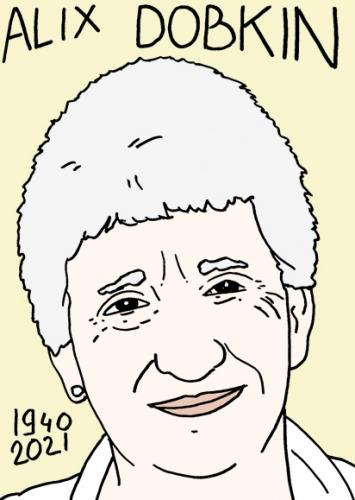 mort d'Alix Dobkin,dessin,portrait,laurent Jacquy