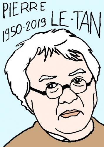 mort de Pierre Le-Tan, dessin, portrait, laurent jacquy,répertoire des macchabées célèbres,mort d'homme,