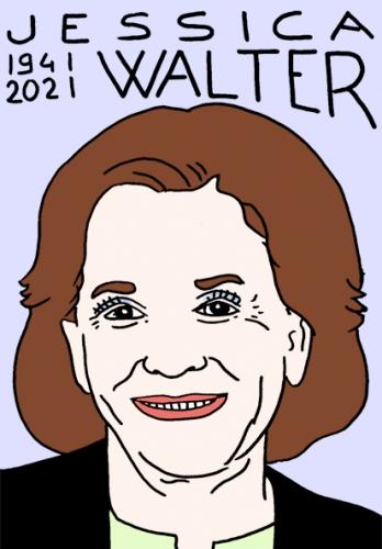 mort de Jessica Walter ,dessin,portrait,laurent Jacquy,poésie