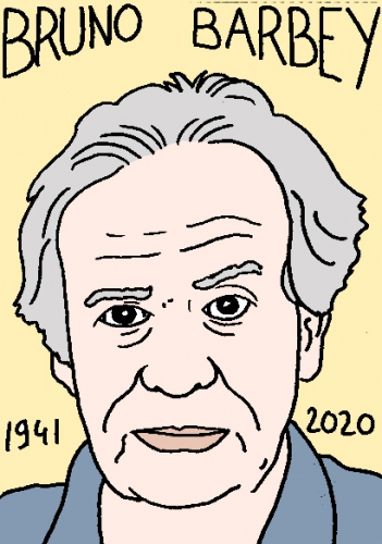 mort de Bruno Barbey, dessin, portrait, laurent jacquy,répertoire des macchabées célèbres,mort d'homme,
