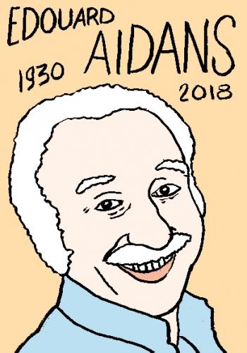 mort d'edouard aidans, dessin, portrait, laurent jacquy,répertoire des macchabées célèbres,mort d'homme,