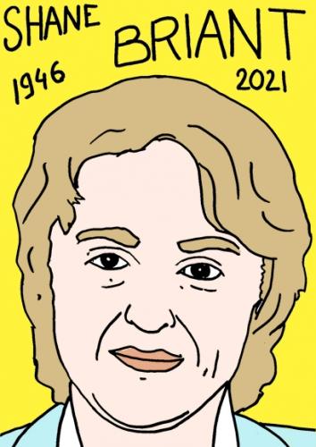 mort de Shane Briant,dessin,portrait,laurent Jacquy,poésie