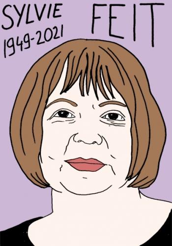 mort de Sylvie Feit,dessin,portrait,laurent Jacquy