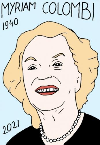 mort de Myriam Colombi,dessin,portrait,laurent Jacquy,poésie