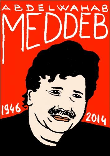 mort d'abdelwahab meddeb,dessin,portrait,laurent jacquy,répertoire des macchabées célèbres
