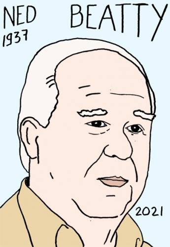 mort de Ned Beatty,dessin,portrait,laurent Jacquy