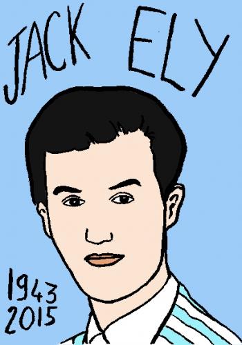 mort de jack ely, dessin, portrait, laurent jacquy,répertoire des macchabbées célèbres, visage,mort d'homme
