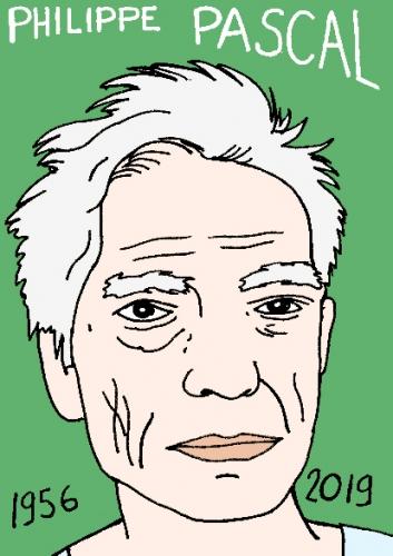 mort de Philippe Pascal, dessin, portrait, laurent jacquy,répertoire des macchabées célèbres,mort d'homme,