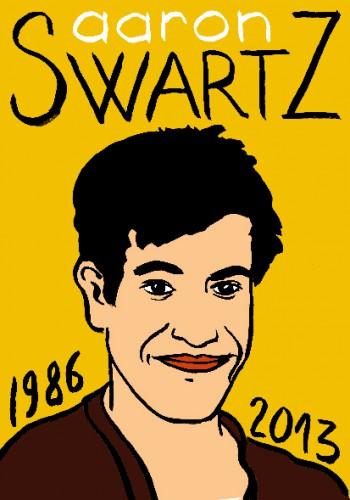 Aaron Swartz,dessin,portrait,laurent jacquy,art singulier,french outsider,les beaux dimanches,répertoire des macchabées célèbres