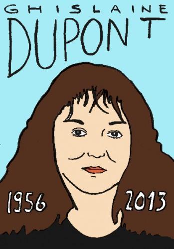 mort de ghislaine Dupont,dessin,portrait,laurent jacquy,mort d'homme,répertoire des macchabées célèbres,art modeste