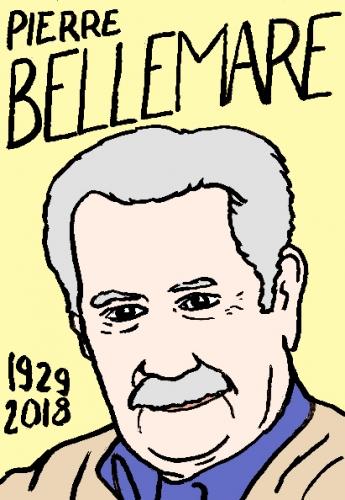 mort de Pierre Bellemare, dessin, portrait, laurent jacquy,répertoire des macchabées célèbres,mort d'homme,