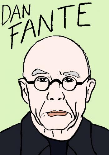 mort de dan fante, dessin, portrait, laurent jacquy,répertoire des macchabées célèbres,mort d'homme,