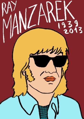 Ray Manzarek,portrait,dessin,laurent jacquy,art modeste,art singulier,les beaux dimanches