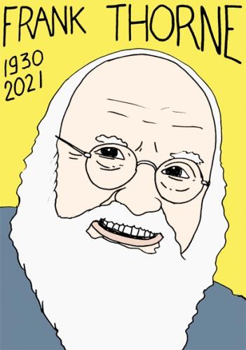 mort de Frank Thorne,dessin,portrait,laurent Jacquy