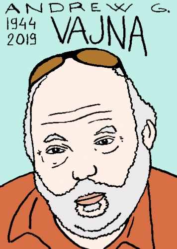 mort de Andrew G. Vajna, dessin, portrait, laurent jacquy,répertoire des macchabées célèbres,mort d'homme,