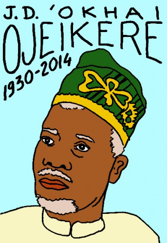 mort de J.D. 'Okhai Ojeikere,dessin,portrait,lauren jacquy,mort d'homme,répertoire des macchabées célèbres,art modeste,photographie