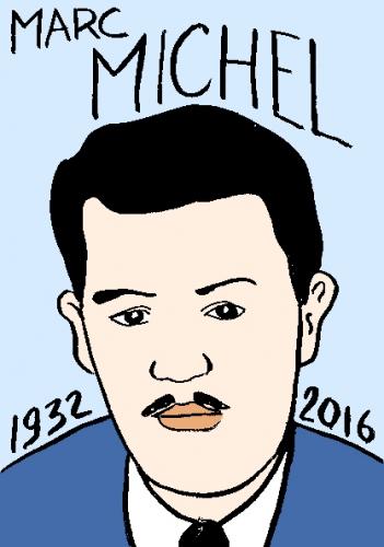 mort de marc michel, dessin, portrait, laurent jacquy,répertoire des macchabées célèbres,mort d'homme,