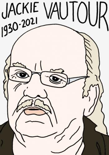 mort de Jackie Vautour,dessin,portrait,laurent Jacquy,resistant acadien