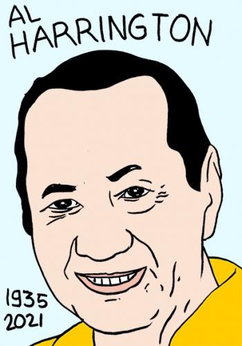 mort de Hal Harrington,dessin,portrait,laurent Jacquy