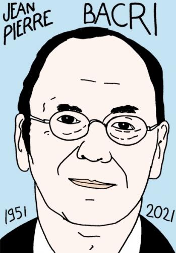 mort de Jean-Pierre Bacri,dessin,portrait,laurent Jacquy