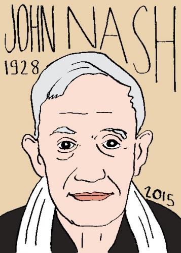 mort de john nash, dessin, portrait, laurent jacquy,répertoire des macchabbées célèbres, visage,mort d'homme