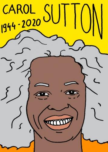 Mort de Carol Sutton,portrait,dessin,Laurent Jacquy