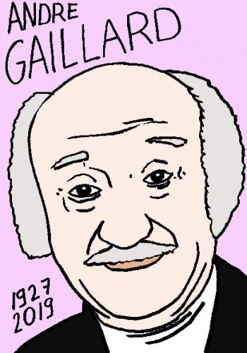 mort d'André Gaillard, dessin, portrait, laurent jacquy,répertoire des macchabées célèbres,mort d'homme,