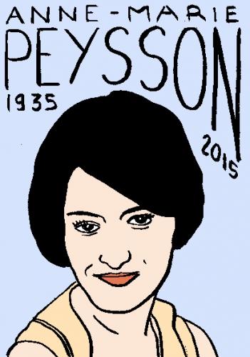 mort d'anne marie peysson, dessin, portrait, laurent jacquy,répertoire des macchabbées célèbres, visage,mort d'homme