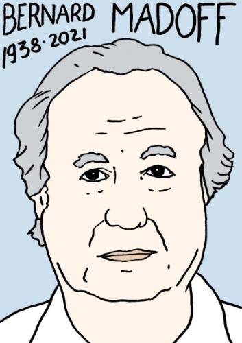 mort de Bernard Madoff,dessin,portrait,laurent Jacquy,escroc