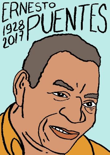 mort de Ernetso Puentes dessin, portrait, laurent jacquy,répertoire des macchabées célèbres,mort d'homme,