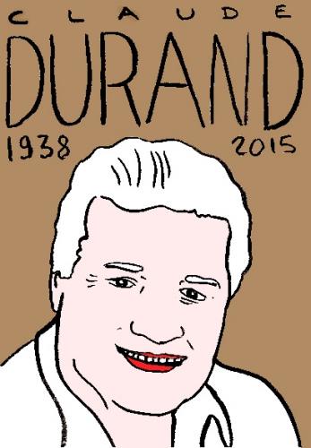 mort de claude durand, dessin, portrait, laurent jacquy,répertoire des macchabbées célèbres, visage,mort d'homme